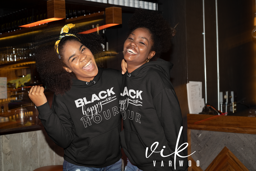 Black is my Happy Hour Hoodie