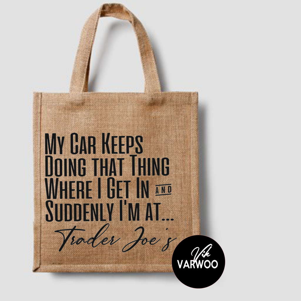 My Car Suddenly Ends Up At... Shopping Tote