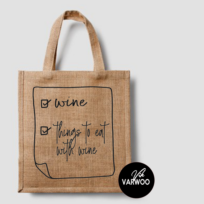 Wine Shopping Tote