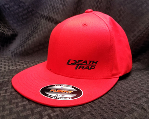 Death Trap Hat Red/Black Curved Bill
