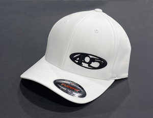 405 Fitted Hat White/Black Curved Bill
