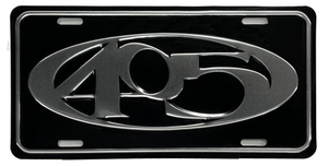 405 Embossed License Plate(Black/silver)