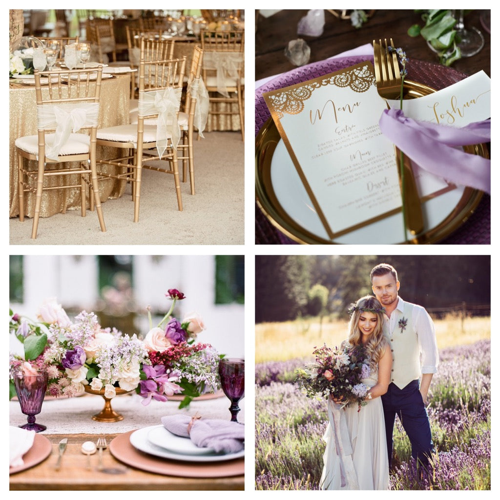 Types of wedding rentals