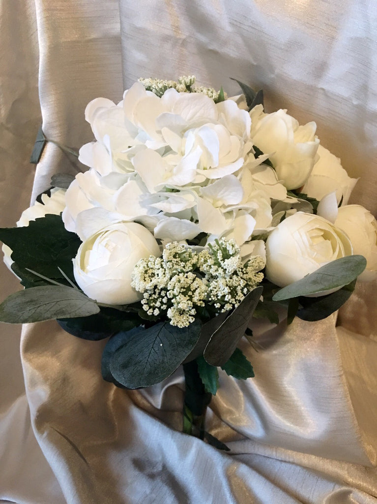Addison White and Ivory Wedding Bridesmaid Bouquet