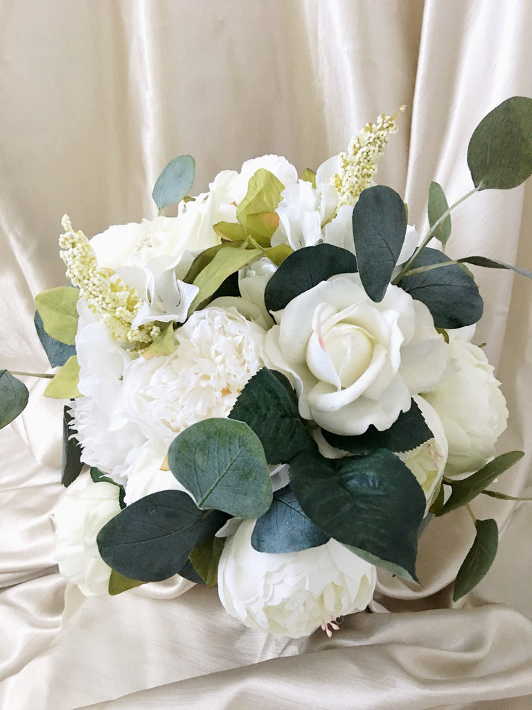 Addison White and Ivory Wedding Bridal Bouquet