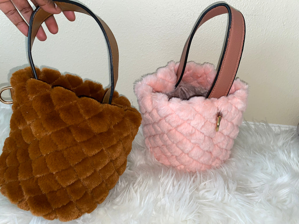 Plush Bucket Bag