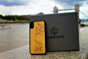 Limited Edition Yellow Python Snakeskin Leather Case-Galaxy S9 Plus-ChristophLeather.com-iPhone 6/ 6S-ChristophLeather.com