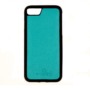 Turquoise Saffiano Leather Case