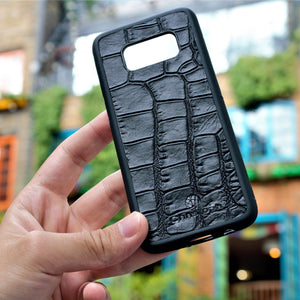 "Black Crocodile ""2"" Leather Phone Case"