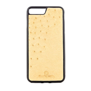 Beige Ostrich Leather Case