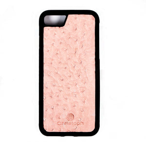 Pink Ostrich Leather Case