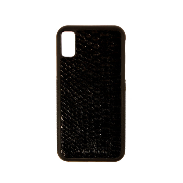 Black Python Leather Case