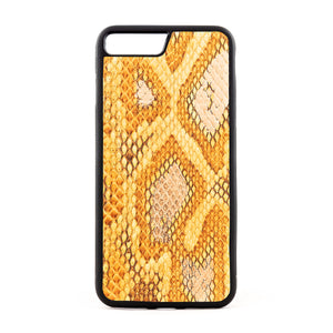 Limited edition Multicolor Yellow Python Snakeskin Leather Case