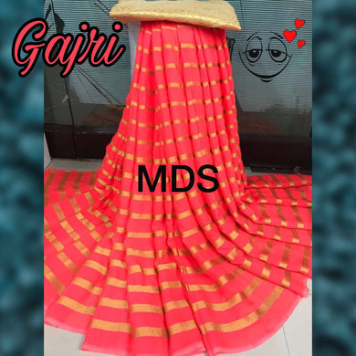 Awesome New Launching Gajri Fab Pure Bembar Saree