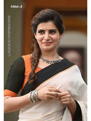 Cream Colour Blooywoood Star Samantha South Silks Zarna Saree