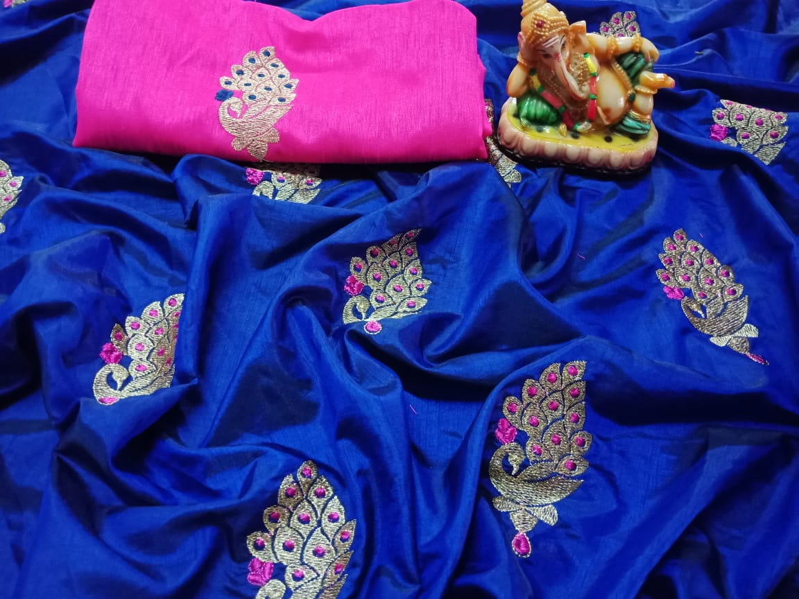 07d81658554d2 Blue Color Latest-new-designer-sana-silk-saree-with-embroidery-work ...