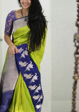 Latest Designer Multi Coloured Digital Printed Tussar Silk Saree