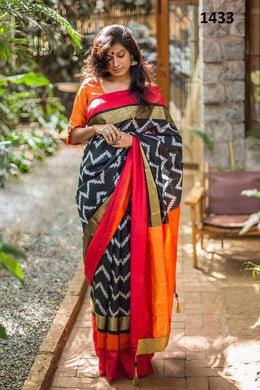 Awesome Look Multicolor Zarna Silk Digital Printed Saree