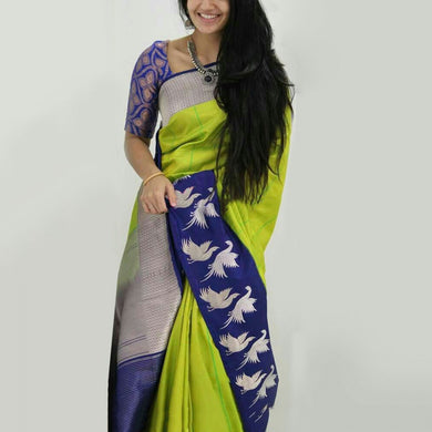 Attractive Multicolor Satin Silk Designer Saree