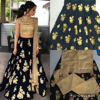 Attractive Black Designer Embroidery Lehenga With Dupatta