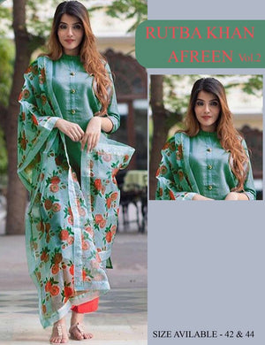 Awesome Green Color Rayon Full Stitched Salwar Suit
