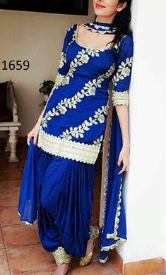 Blue Color Georgette Patiyala Salwar Suit