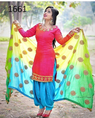 Pink Color Banglori Patiyala Salwar Suit