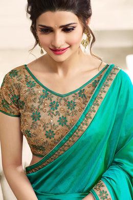 Beautifull Bollywood Embroidered Georgette Designer Saree