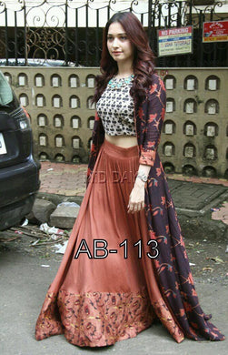 Multicolour Exclusive Beautiful Designer Bollywood Indian Ethnic Partywear 1206