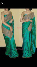 Beautifully Designer Green Paper Silk Saree With Blouse
