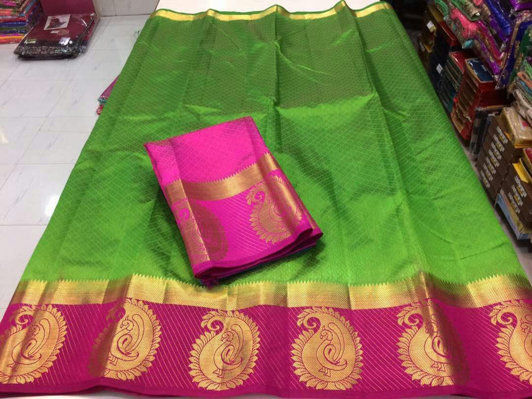 9a606a0b6f Awesome Green Color Party Wear Traditional Printed Work Saree – SAREEU™