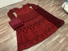 Sonakshi Sinha Bollywood Maroon Color Embroidary Work Anarkali Suit