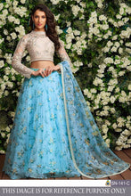 Stylish Skyblue Color Organza Silk Designer Lehenga Choli