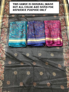 Festival Special Awesome Khadi Silk Floral Printed Designer Saree