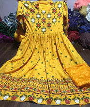 Designer Yellow Color Crepe Silk Printed Gown With Bottom