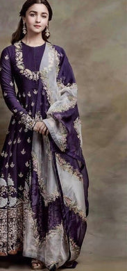 Purple Color Pretty  Fox Georgette Salwar