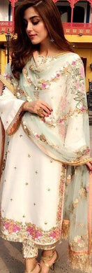 White Color New Designer Party Wear Heavy Work Salwar Suit