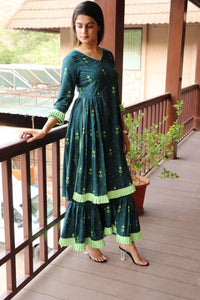 Green Color Heavy Rayon Salwar
