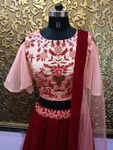New Collection Red Colour Embroidery Zari Work Lehenga