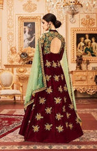 New Collection Maroon Colour Chainstich Embroidery Work + Stone Salwar Suit