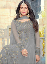 New Collection Grey Colour  Havey Gorget With  Squwan Work Salwar Suit