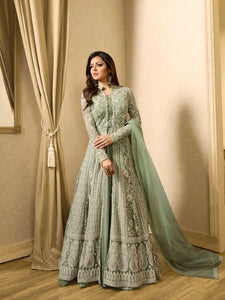 New Collection Light Seagreen Colour  Havet Net +embroidery Work Salwar Suit