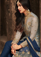 New Collection Blue Colour Heavy Net+with Embroidery Work  Salwar Suit