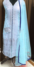 New Collection Blue Colour Georgette With Heavy Embroidery And Diamond Work  Salwar Suit