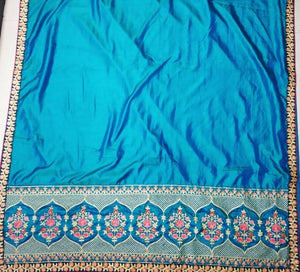 New Collection Blue Colour Sana Silk And Work Saree