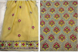 New Collection Yellow Colour   Georgette With Embroidery Work Salwar Suit