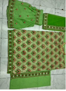 New Collection Green Colour Georgette With Embroidery Work  Salwar Suit