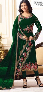 New Collection Green Colour Havey Georgette With Embroidery Work Salwar Suit