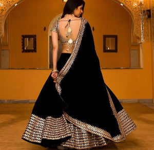 Navratri Special Black Colour Lehenga Jorjet With Embroidery Work