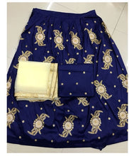 New Collection Blue Colour  Tapeta Silk With Embroidery Siqvance Work  Lehenga